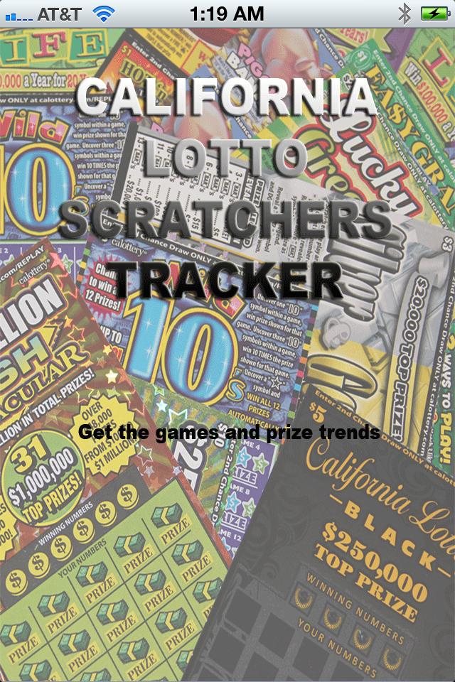 California Lotto Scratchers Tracker App